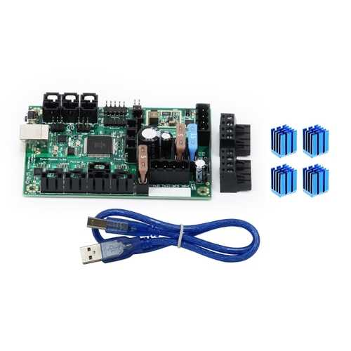 Mini-Rambo 1.3 Mainboard Integrated Controller Board + 4pcs Heatsinks For Prusa i3 MK2 3D Printer