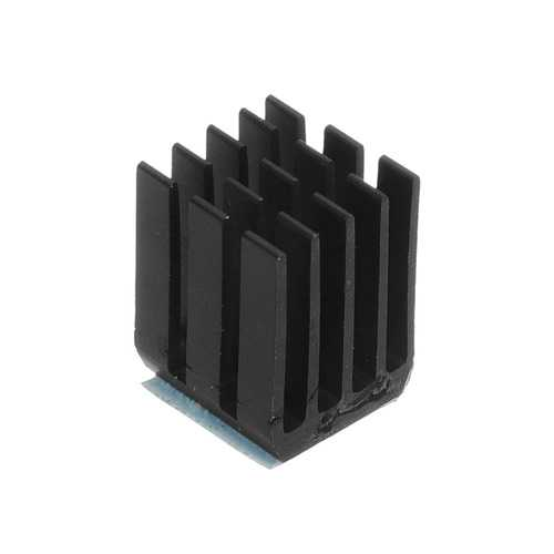 40PCS Black TMC2100 Stepper Motor Driver Cooling Heatsink With Back Glue For 3D Printer