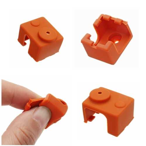 Hotend Silicone Case Insulation Sock For V6 PT100 Aluminum Block 3D Printer Part