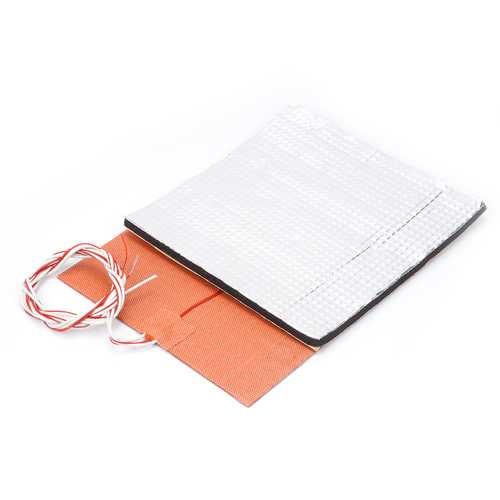 200*200mm 220V 200W Silicone Heated Bed Heating Pad + Foil Self-adhesive Heat Insulation Cotton Set