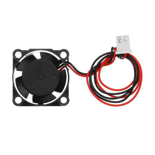 12V 25*25*10mm 2510 Cooling Fan with 2Pin Cable for 3D Printer