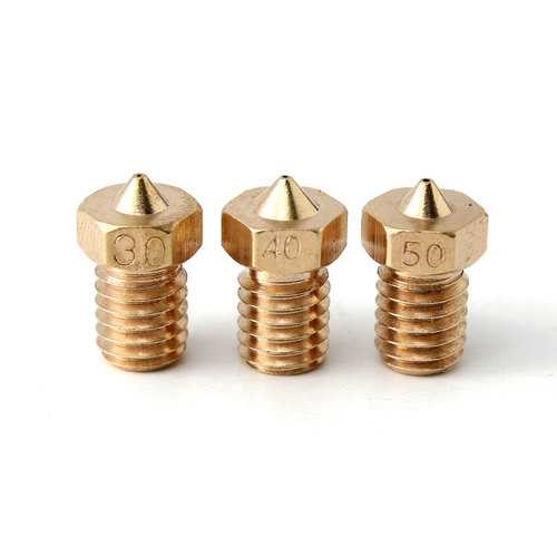 1 Pc M6 Threaded Copper Nozzle 0.3/0.4/0.5MM For 1.75mm Supplies 3D Printer
