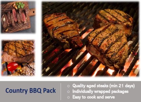 Country BBQ Steak Pack
