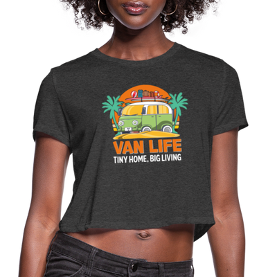 Van Life crop tee - deep heather