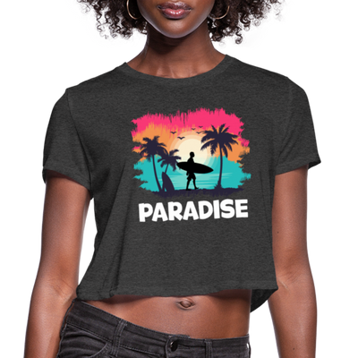 paradise Women's Cropped T-Shirt - deep heather