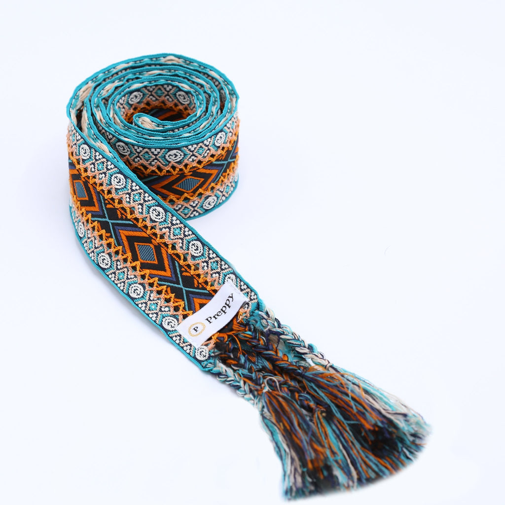 Boho tie belte - Sea green