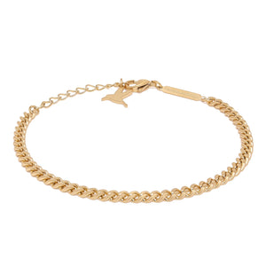 Simple chain armbånd - Matte gold