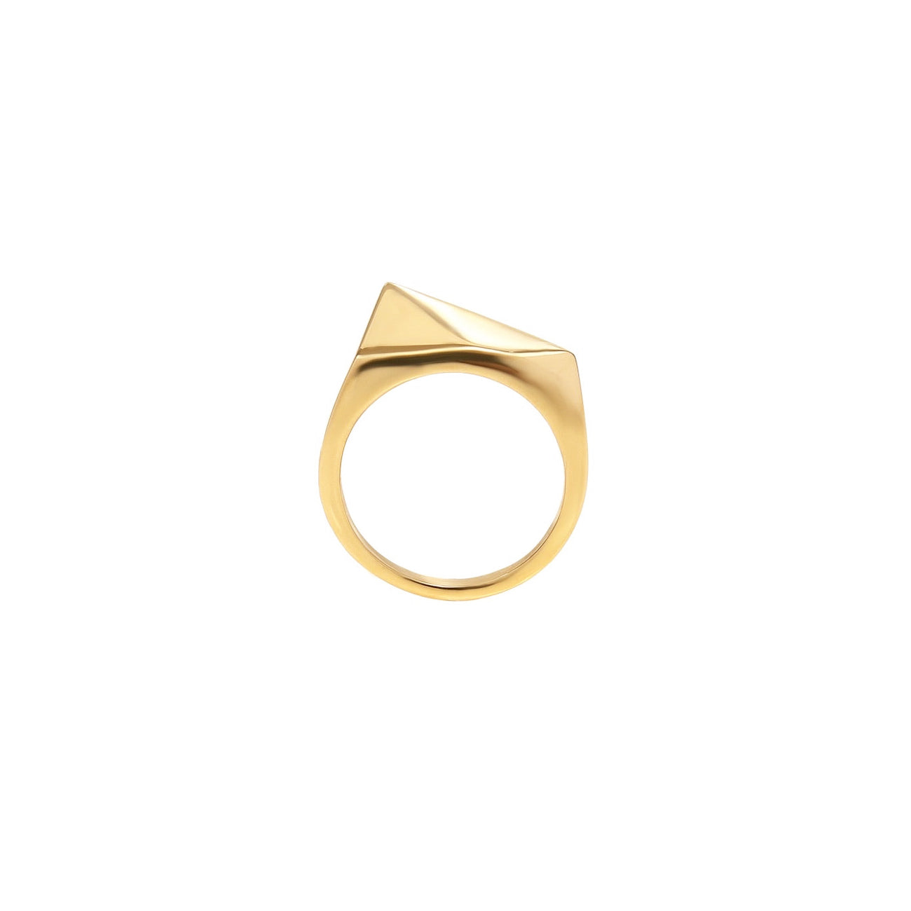 Graphical ring - Polished gold