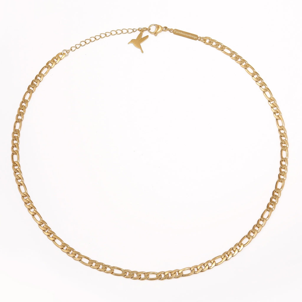 Italian chain halskjede - Polished gold