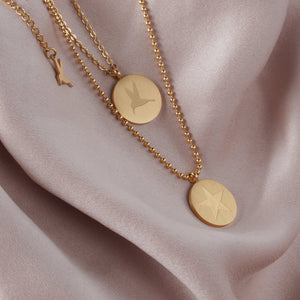 Signature double chain halskjede - Gold