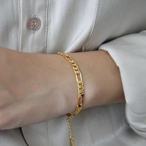 Italian chain armbånd - Polished Gold