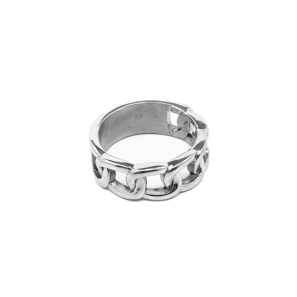 Chunky chain ring - Silver
