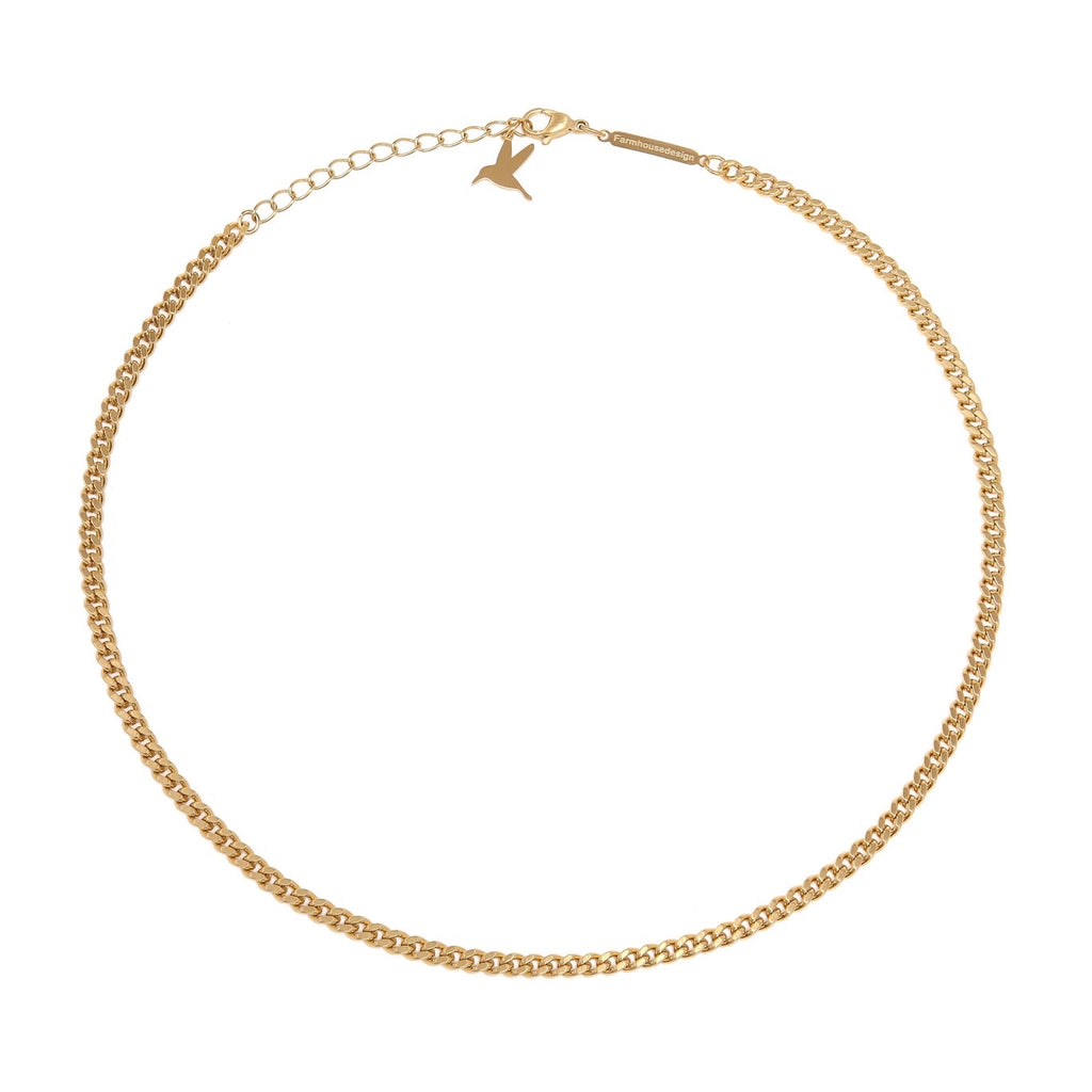 Simple chain halskjede - Matte gold