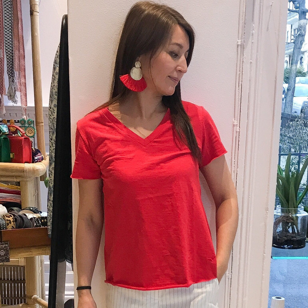 Fanny T-skjorte - High red fra Farmhousedesign.no