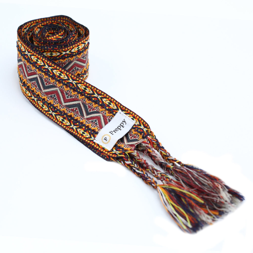 Boho tie belte - Orange