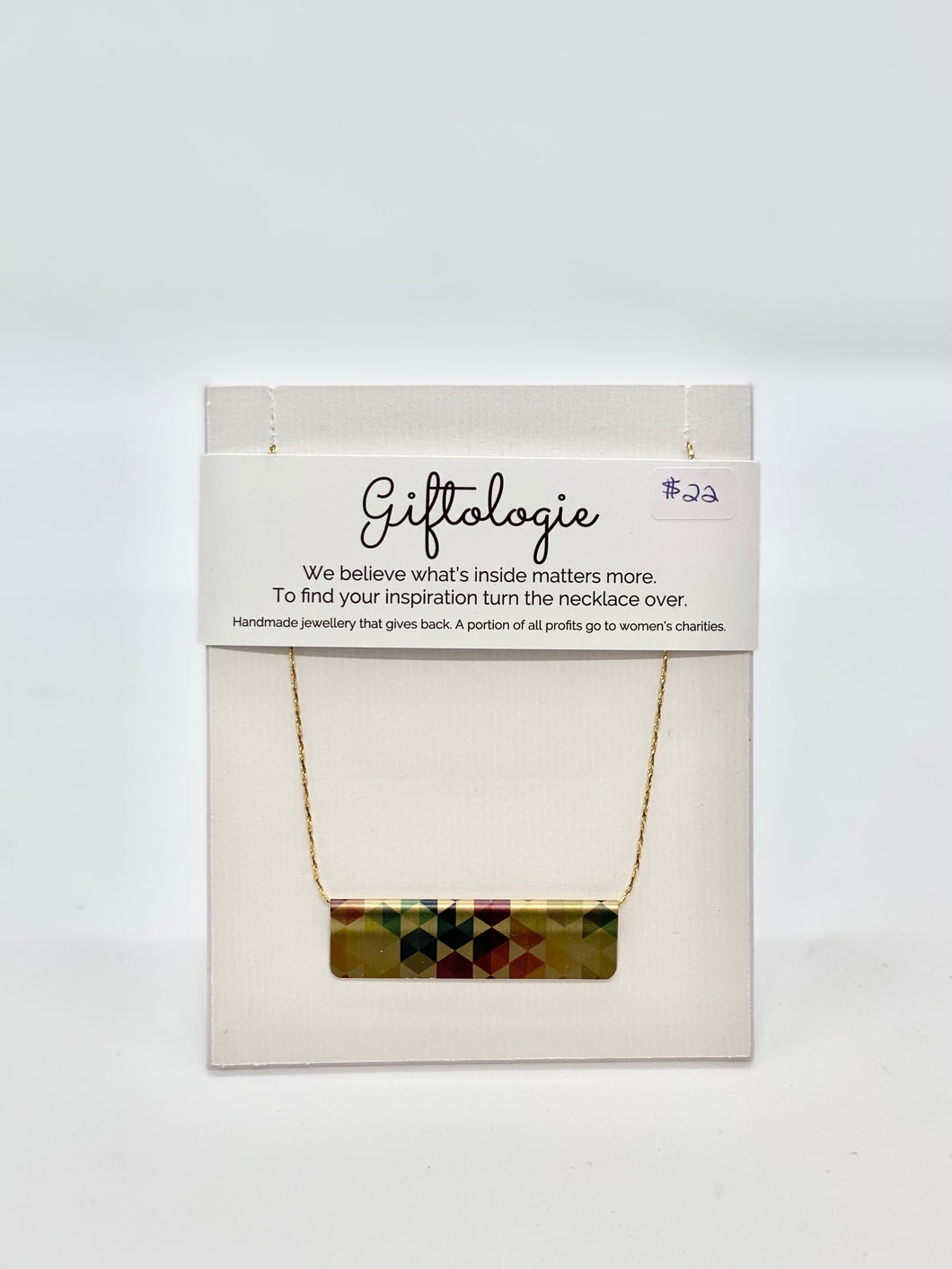 Giftologie Vibrant Hex Mix Bar Necklace