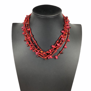 Primary Photo - BRAND:    CLOTHES MENTOR STYLE: NECKLACE COLOR: RED OTHER INFO: NAMEBRAND - SKU: 160-160239-84