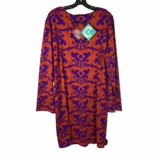 Primary Photo - BRAND: TRACY NEGOSHIAN STYLE: DRESS SHORT LONG SLEEVE COLOR: ORANGE SIZE: XL SKU: 160-160124-14441