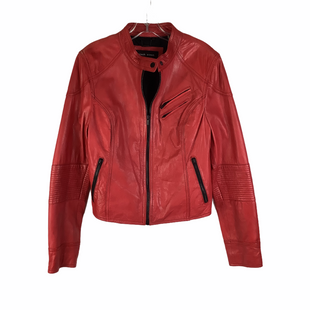 Primary Photo - BRAND: BLACK RIVET STYLE: JACKET LEATHER COLOR: RED SIZE: XL OTHER INFO: AS IS/SMALL SPOTTTING SKU: 160-16071-76641