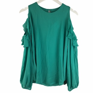 Primary Photo - BRAND: KARLIE STYLE: TOP LONG SLEEVE COLOR: TEAL SIZE: S SKU: 160-16071-78407