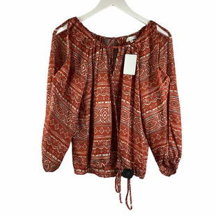 Primary Photo - BRAND: GLAM STYLE: TOP LONG SLEEVE COLOR: RUST SIZE: S SKU: 160-16071-78380