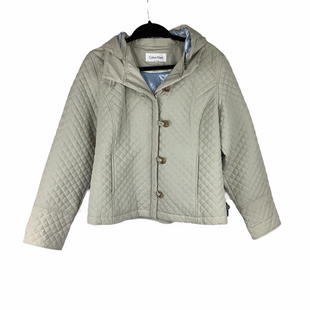 Primary Photo - BRAND: CALVIN KLEIN STYLE: JACKET OUTDOOR COLOR: CREAM SIZE: L SKU: 160-16071-73387
