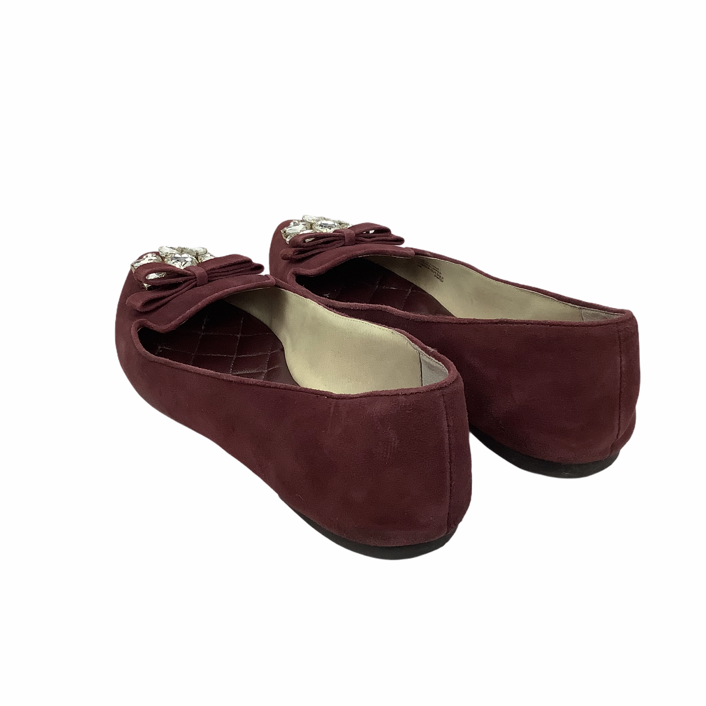 Photo #1 - BRAND: MICHAEL BY MICHAEL KORS <BR>STYLE: SHOES DESIGNER <BR>COLOR: MAROON <BR>SIZE: 9 <BR>OTHER INFO: AS IS/ WEAR <BR>SKU: 160-160216-164