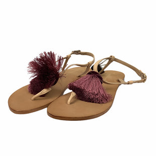 Primary Photo - BRAND: ANTHROPOLOGIE STYLE: SANDALS FLAT COLOR: MAROON SIZE: 7.5 SKU: 160-160201-2385