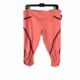 Primary Photo - BRAND: LULULEMON STYLE: ATHLETIC CAPRIS COLOR: PINK SIZE: 12 OTHER INFO: AS IS(PILLING/WEAR) SKU: 160-160197-12614