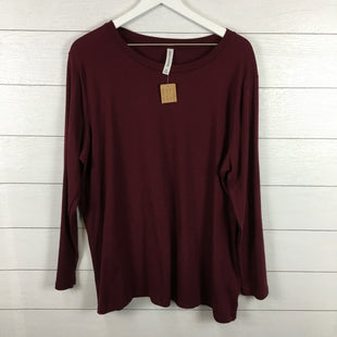 Primary Photo - BRAND: ZENANA OUTFITTERS STYLE: TOP LONG SLEEVE BASIC COLOR: MAROON SIZE: 3X SKU: 160-16071-70595
