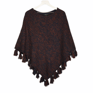 Primary Photo - BRAND: STYLE AND CO COLLECTION WOMEN STYLE: PONCHO COLOR: BLUE SIZE: L SKU: 160-160216-1473AS IS
