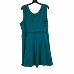 Photo #1 - BRAND: SIMPLY EMMA <BR>STYLE: DRESS SHORT SLEEVELESS <BR>COLOR: TEAL <BR>SIZE: 2X <BR>SKU: 160-160197-6800