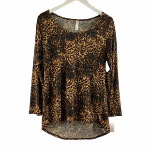 Primary Photo - BRAND: LULAROE STYLE: TOP LONG SLEEVE COLOR: ANIMAL PRINT SIZE: M SKU: 160-160197-18452