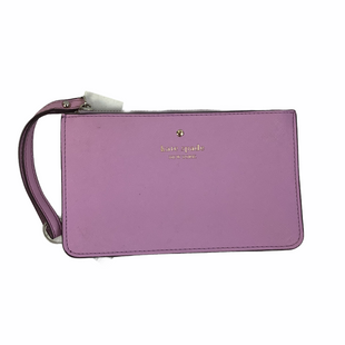 Primary Photo - BRAND: KATE SPADE STYLE: WRISTLET COLOR: PURPLE OTHER INFO: AS IS - BOTTOM LINING IS RIPPEDSKU: 160-160237-628