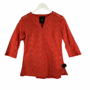 Primary Photo - BRAND: TALBOTS O STYLE: TOP LONG SLEEVE COLOR: ORANGE SIZE: PETITE   SMALL SKU: 160-16071-78405