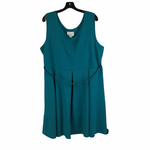 Primary Photo - BRAND: SIMPLY EMMA <BR>STYLE: DRESS SHORT SLEEVELESS <BR>COLOR: TEAL <BR>SIZE: 2X <BR>SKU: 160-160197-6800