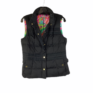 Primary Photo - BRAND: LILLY PULITZER STYLE: VEST DOWN COLOR: BLACK SIZE: S AS IS - MARKS NEAR COLLAR SKU: 160-160197-17765