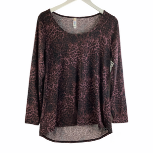 Primary Photo - BRAND: LULAROE STYLE: TOP LONG SLEEVE COLOR: ANIMAL PRINT SIZE: M SKU: 160-160197-18450