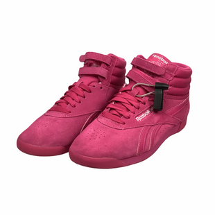 Primary Photo - BRAND: REEBOK STYLE: SHOES FLATS COLOR: PINK SIZE: 8.5 OTHER INFO: AS IS(WEAR/SPOTTING) SKU: 160-160197-10737