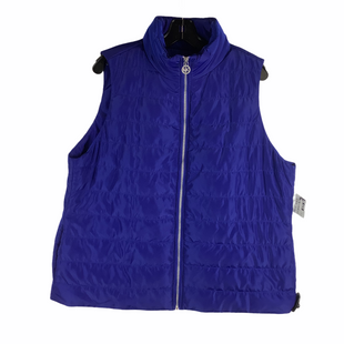 Primary Photo - BRAND: MICHAEL BY MICHAEL KORS STYLE: VEST DOWN COLOR: BLUE SIZE: 1X SKU: 160-160219-2560