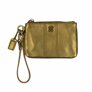 Primary Photo - BRAND: COACH STYLE: WRISTLET COLOR: GOLD OTHER INFO: AS IS SKU: 160-160228-118