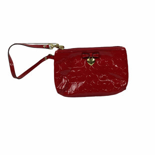 Primary Photo - BRAND: COACH STYLE: WRISTLET COLOR: RED OTHER INFO: AS IS - MARKING AT BACKSKU: 160-160201-1635