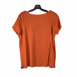 Photo #1 - BRAND: TALBOTS <BR>STYLE: TOP SHORT SLEEVE <BR>COLOR: ORANGE <BR>SIZE: 1X <BR>OTHER INFO: PETITE <BR>SKU: 160-160197-4034