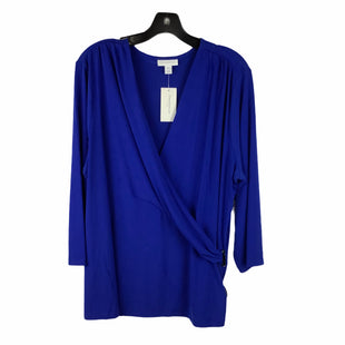 Primary Photo - BRAND: CHARTER CLUB STYLE: TOP LONG SLEEVE BASIC COLOR: BLUE SIZE: 3X SKU: 160-160201-3037
