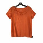 Primary Photo - BRAND: TALBOTS <BR>STYLE: TOP SHORT SLEEVE <BR>COLOR: ORANGE <BR>SIZE: 1X <BR>OTHER INFO: PETITE <BR>SKU: 160-160197-4034