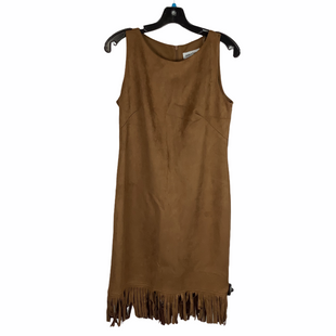 Primary Photo - BRAND: SHELBY AND PALMER STYLE: DRESS SHORT SLEEVELESS COLOR: BROWN SIZE: S SKU: 160-160197-9498