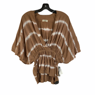 Primary Photo - BRAND:    CLOTHES MENTOR STYLE: TOP SHORT SLEEVE COLOR: BROWN SIZE: S OTHER INFO: CISA - SKU: 160-160239-505