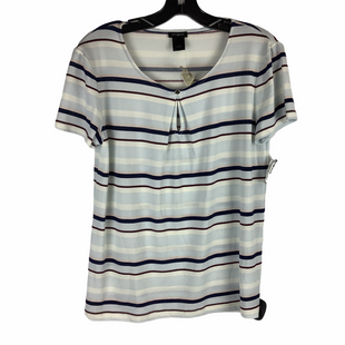 Primary Photo - BRAND: ANN TAYLOR O STYLE: TOP SHORT SLEEVE COLOR: STRIPED SIZE: M SKU: 160-16071-77265