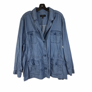Primary Photo - BRAND: TALBOTS STYLE: JACKET OUTDOOR COLOR: DENIM SIZE: 3X SKU: 160-16071-77331