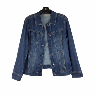 Primary Photo - BRAND: CHICOS STYLE: JACKET OUTDOOR COLOR: DENIM SIZE: S (8/10)SKU: 160-160228-3286